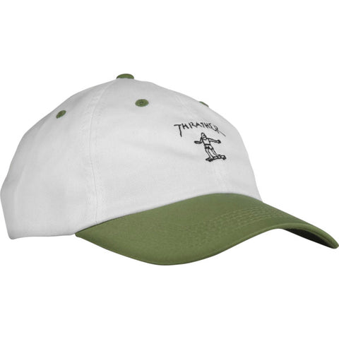Thrasher Magazine Mark Gonzales Old Timer White / Olive Hat - Adjustable