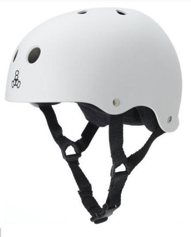 Triple Eight Sweatsaver Skateboard Helmet White