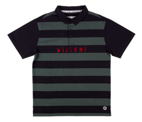 WELCOME  DROP OUT S/S STRIPED POLO