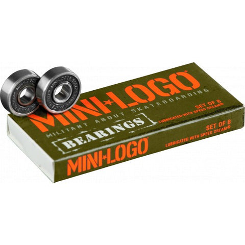 Mini Logo Skateboard Bearings Series 3 8pk
