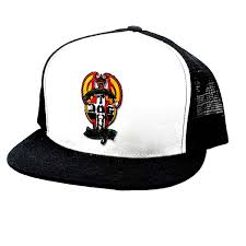 DOGTOWN RED DOG PATCH MESH HAT BLACK/WHITE