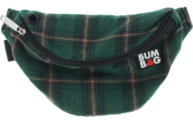 GREEN PLAID BUMBAG