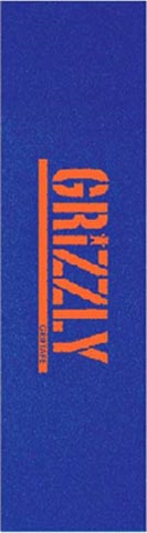 GRIZZLY STAMP NECESSITIES BLUE ORANGE PERFORATED SHEET GRIPTAPE