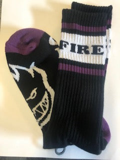 SPITFIRE OG CLASSIC SOCKS BLACK PURPLE WHITE
