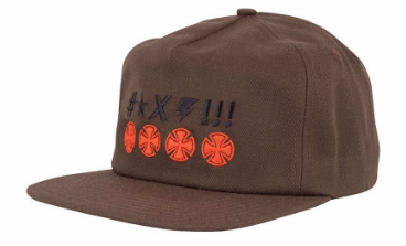 INDEPENDENT TRUCKS ANTE CROSSES SNAPBACK BROWN