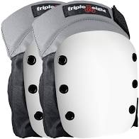 TRIPLE 8 STREET KNEE PADS BLACK W/ WHITE CAP