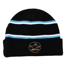 KROOKED TRINITY BEANIE BLACK BLUE YELLOW