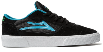 LAKAI CAMBRIDGE BLACK SUEDE BLUE GREEN