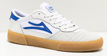 LAKAI CAMBRIDGE WHITE BLUE SUEDE