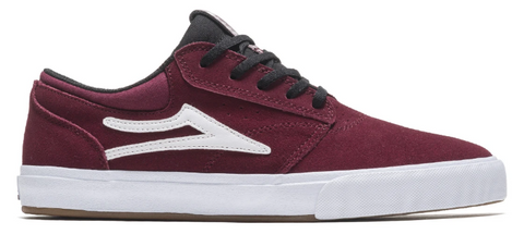 LAKAI GRIFFIN BURGUNDY BLACK SUEDE