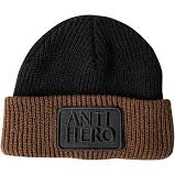 ANTI HERO RESERVE PATCH BEANIE BLACK BROWN