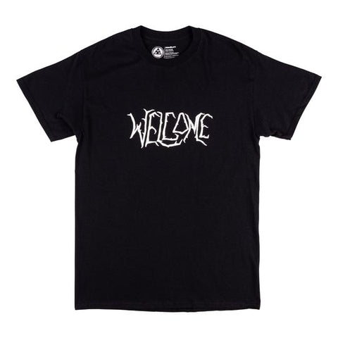 Welcome Black Lodge Tee - Black/White Puff