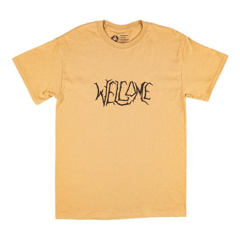 Welcome Black Lodge Tee - Old Gold/Black Puff