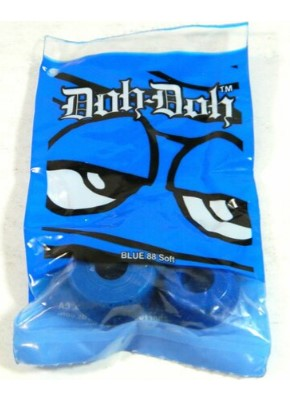 SHORTY'S DOH-DOH BUSHINGS BLUE 88A SOFT (4 PER PACK)