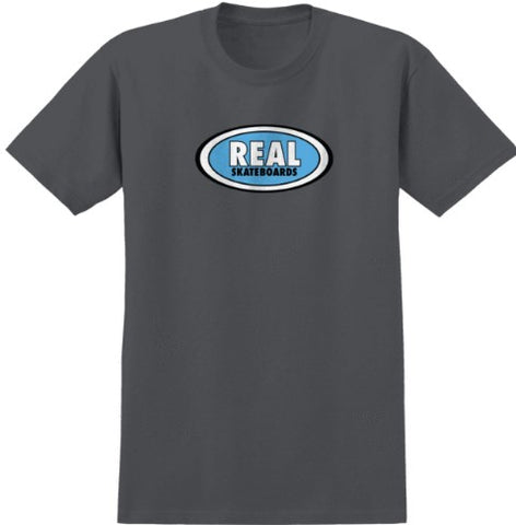 REAL OVAL CHARCOAL SHIRT BLUE