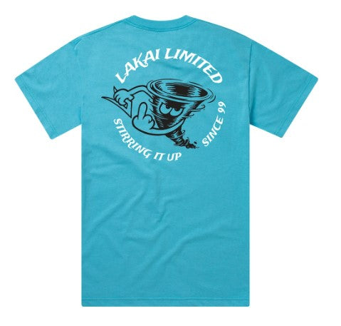 TORNADO TEE PACIFIC BLUE BY LAKAI