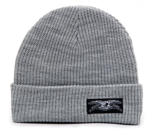 ANTI HERO STOCK EAGLE LABLE BEANIE HEATHER GREY