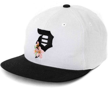 PRIMITIVE SKATEBOARDS DIRTY P CHERRY BLOSSOM SNAPBACK WHITE