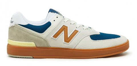 NEW BALANCE ALL COAST 574 WHITE WITH GOLD
