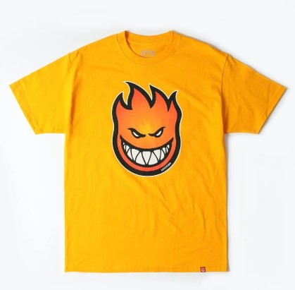 SPITFIRE BIGHEAD SHORT SLEEVE SHIRT BIGHEAD FILL FADE ORANGE