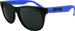 THRASHER LOGO SUNGLASSES BLACK/BLUE