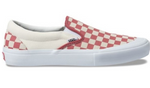 VANS SLIP ON PRO CHECKERBOARD RED