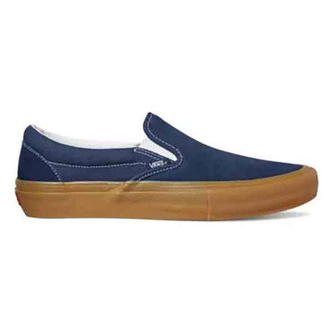 Vans Slip On Pro Shoes - Navy/Gum