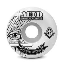 "SET OF 4 ACID REM ""PYRAMID"" 54MM WHEELS"