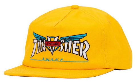 THRASHER VENTURE COLLAB GOLD SNAPBACK HAT