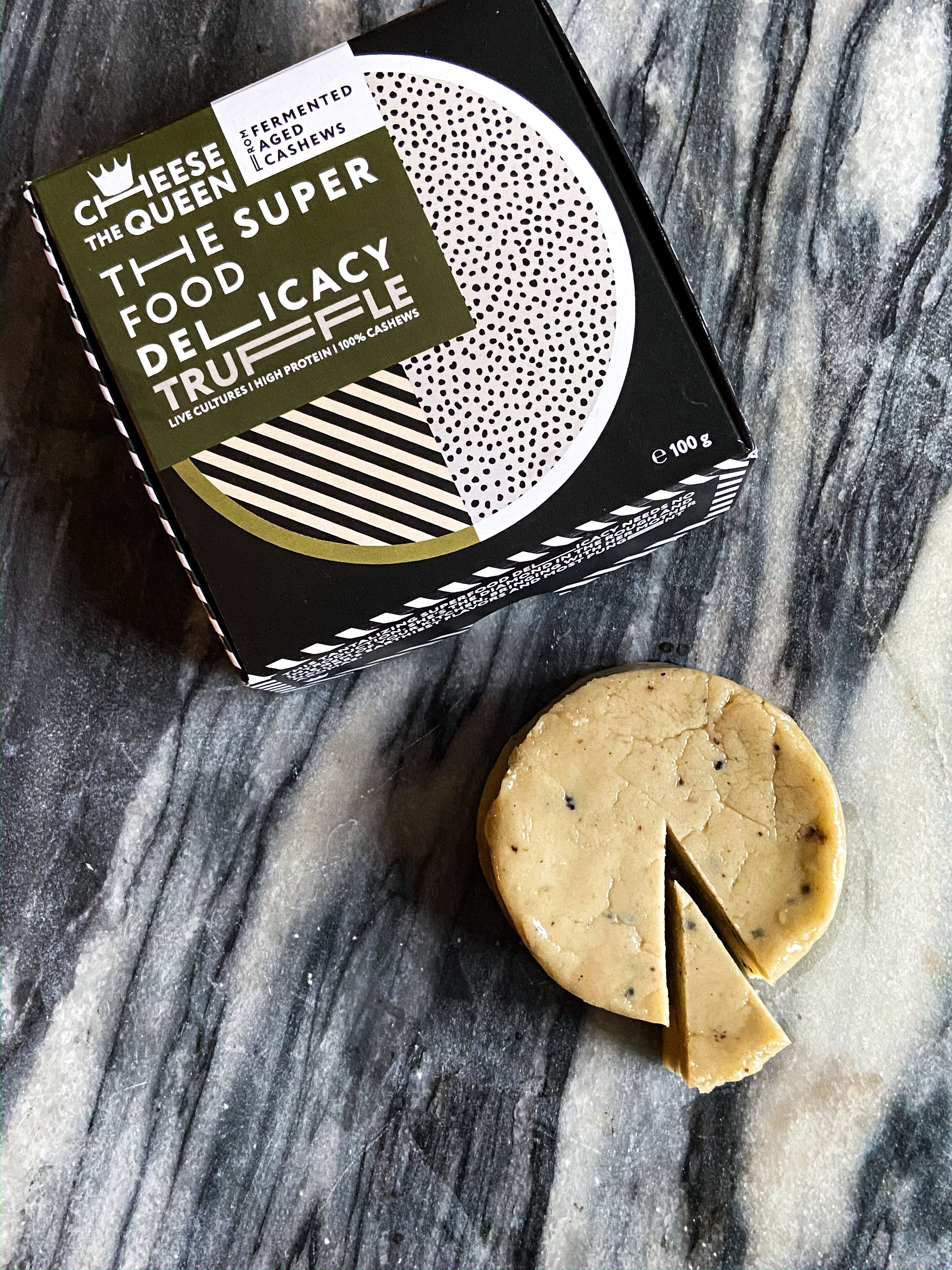 A box of 6 Truffle 'Cheese the Queen' Aged Cashew Delicacies