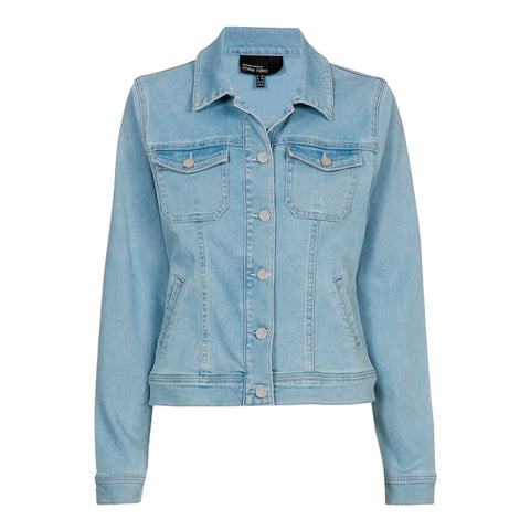 Licht afgewassen denim jacket