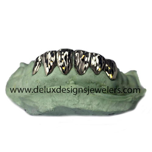 6 Slug Grillz With Full Diamond Cuts