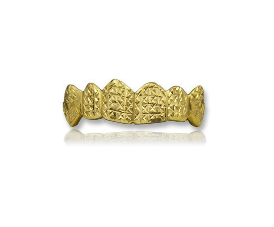 6 Pack Grillz With Full Pineapple Diamond Cuts