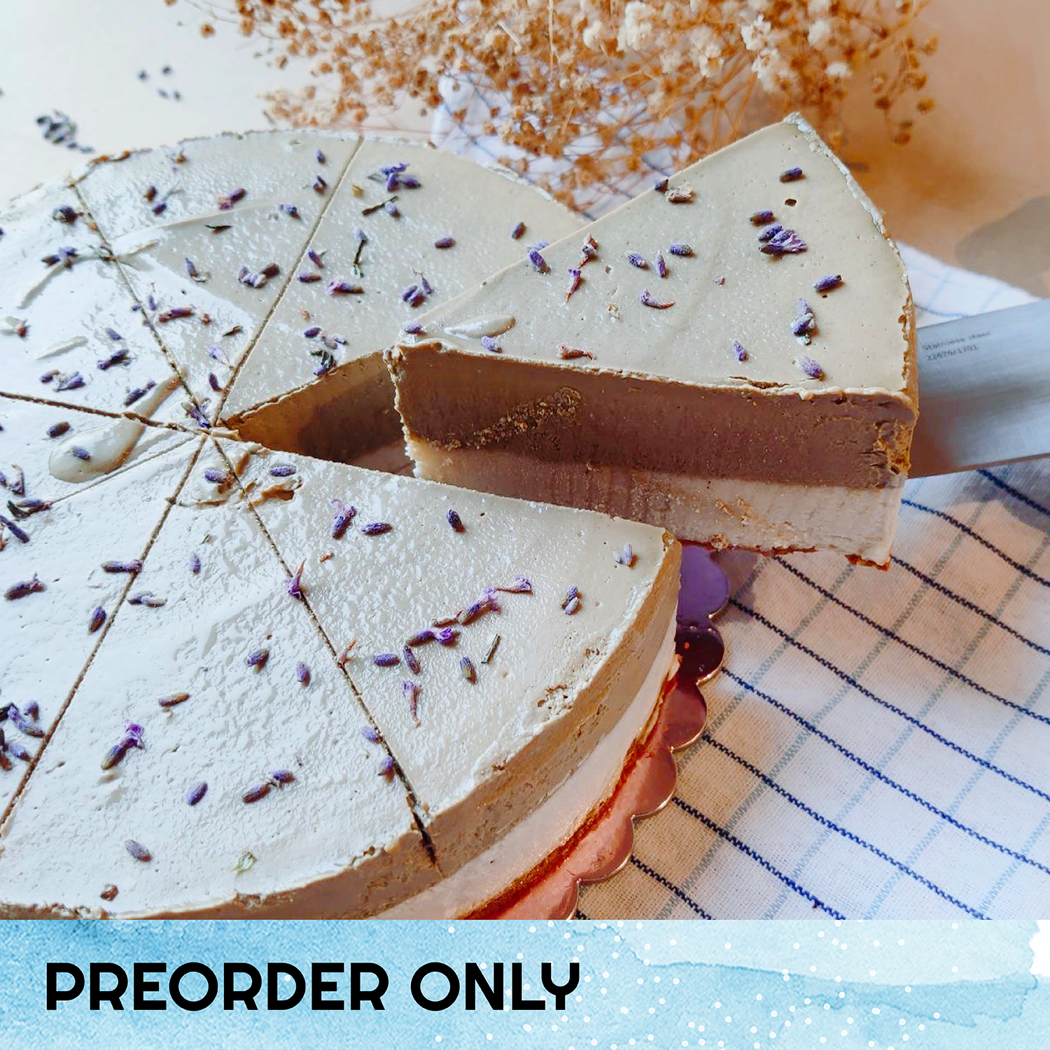 Earl Grey Lavender 'Cheese'cake - 8-inch Whole Cake (Preorder only) (N)