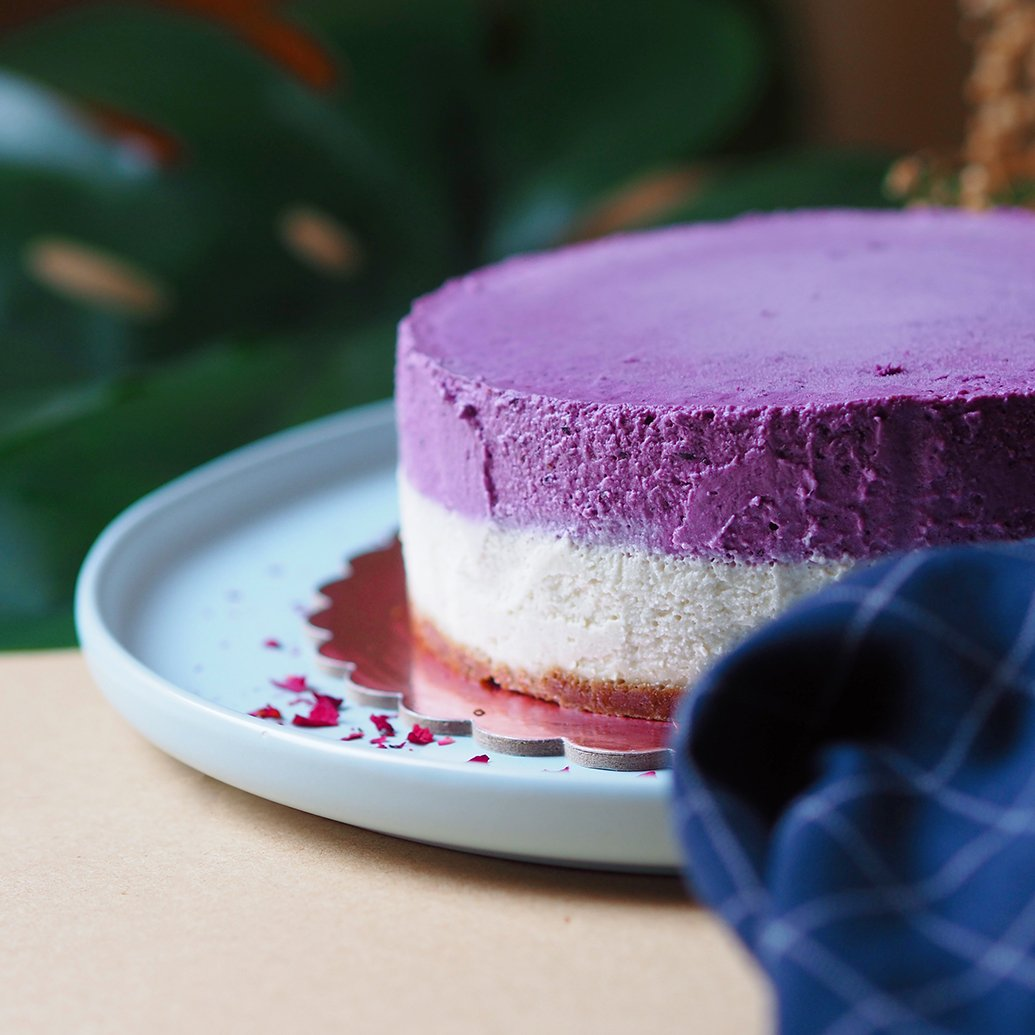 Blueberry 'Cheese'cake - 8-inch Whole Cake (Preorder only) (N)