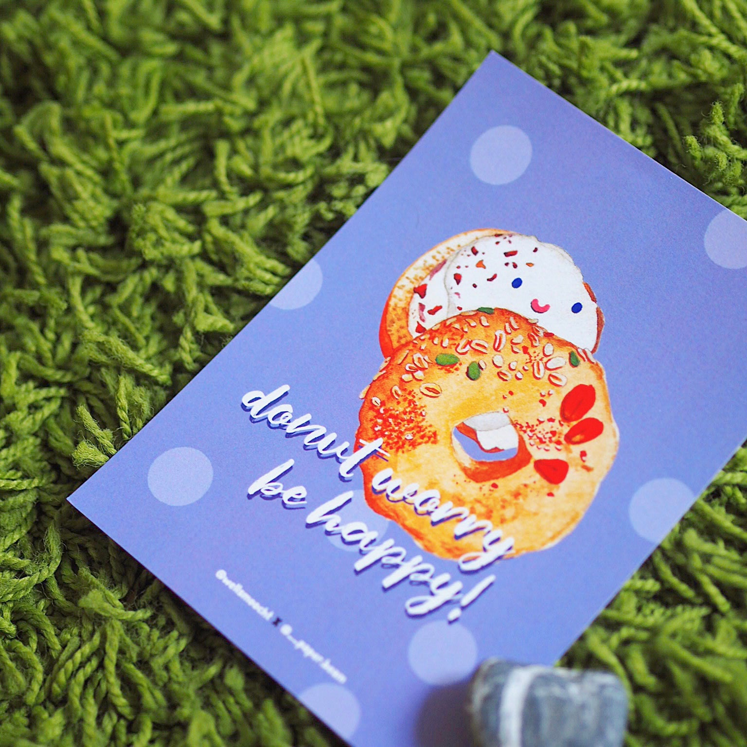 Donut worry be happy! card