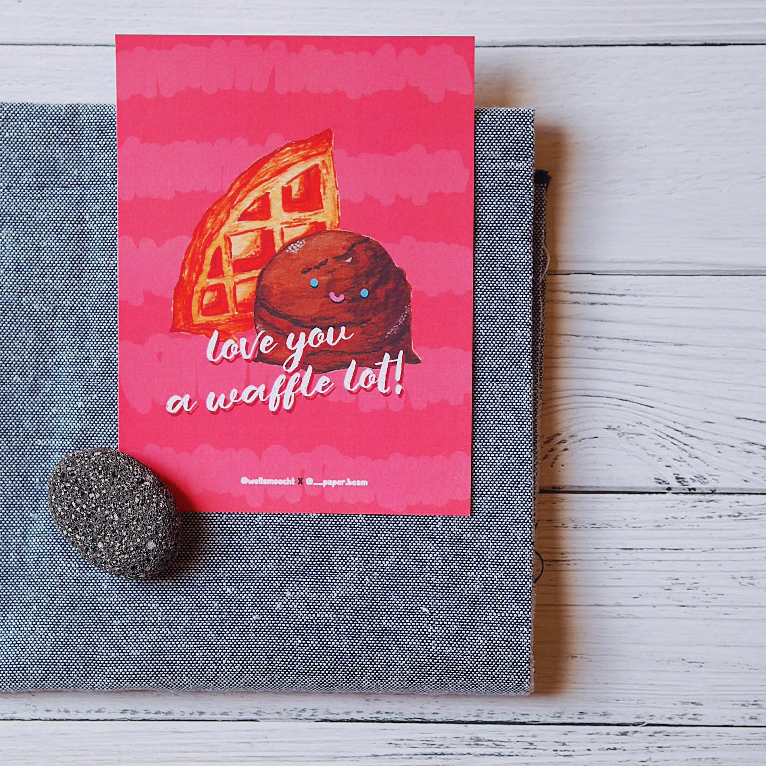 Love you a waffle lot! card