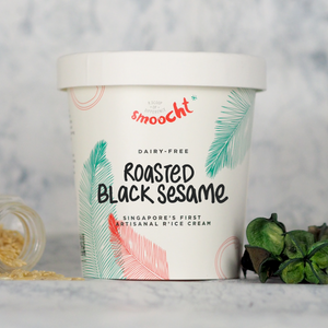 Roasted Black Sesame R'ice Cream Pint (N)