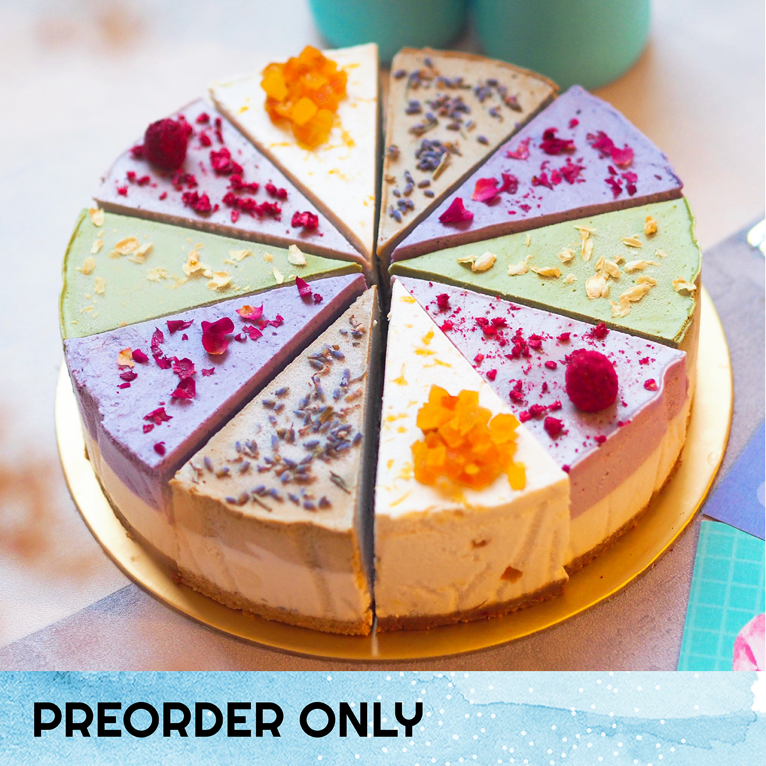 The Happy 'Cheese'cake - 8-inch Whole Cake (Preorder only) (N)