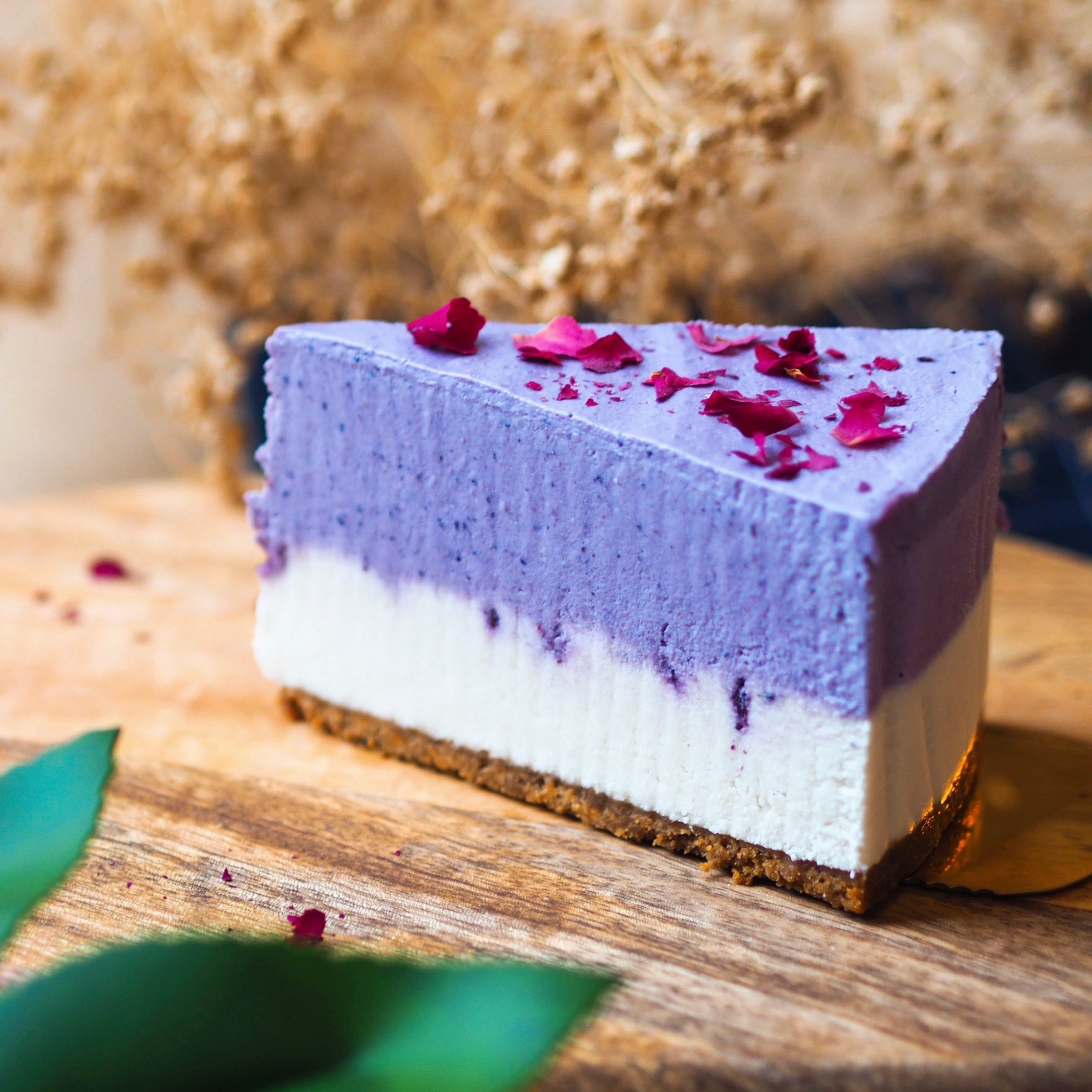 Blueberry 'Cheese'cake - Slice (N)
