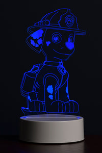 Paw Patrol Marshall Multi-Coloured Led Night Light