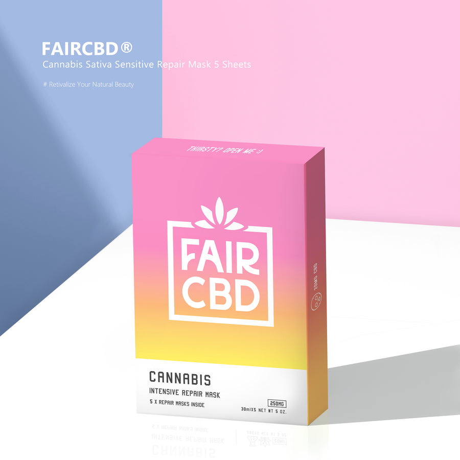 FAIRCBD® Cannabis Sativa Sensitive Repair Mask 5 Sheets