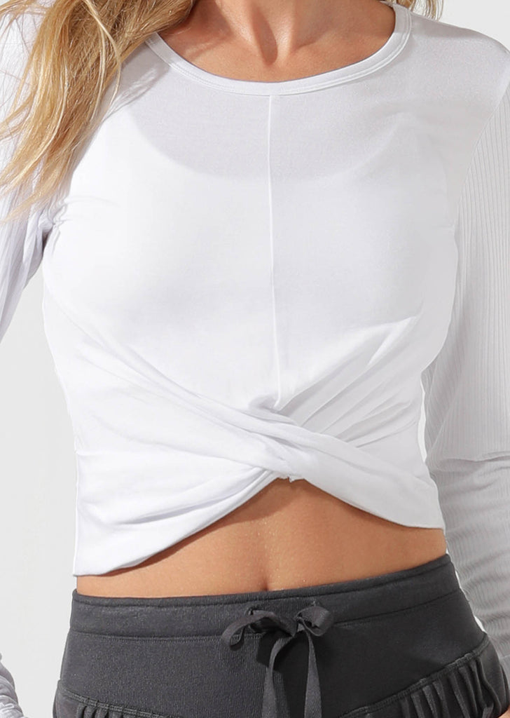 Top manches longues de yoga Flawless Cropped