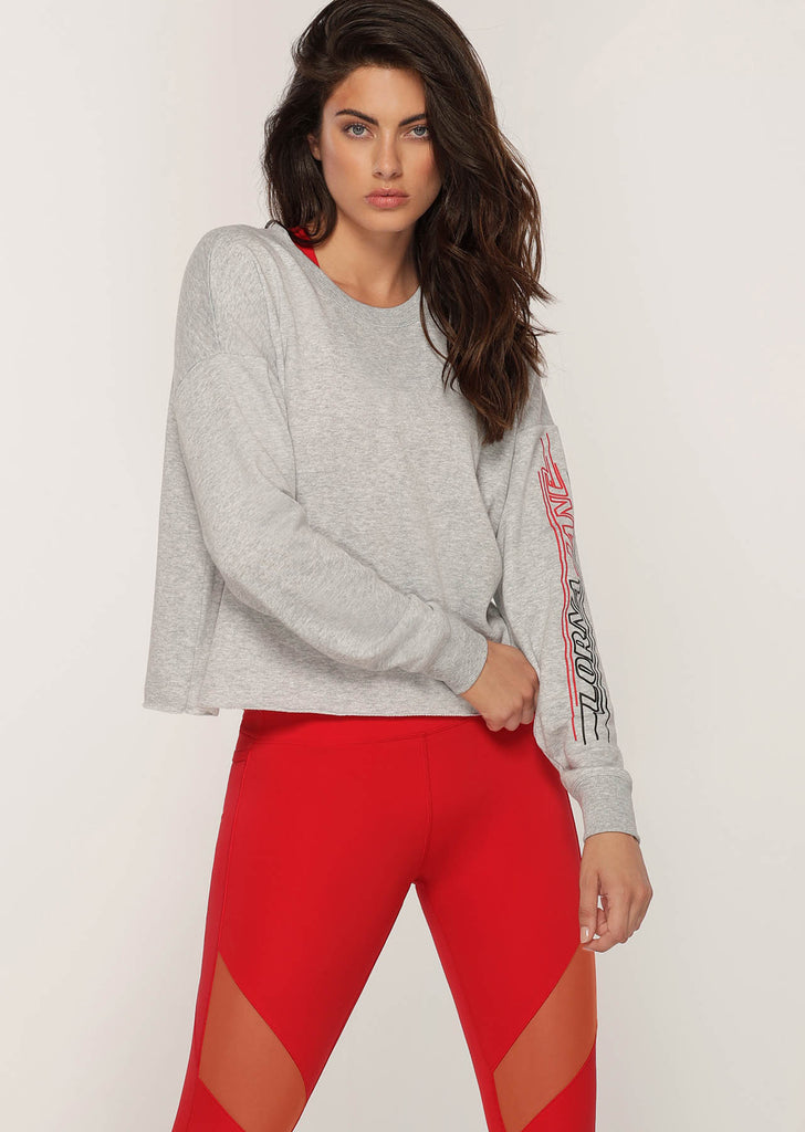 Top manches longues de sport Slouchy Sweat