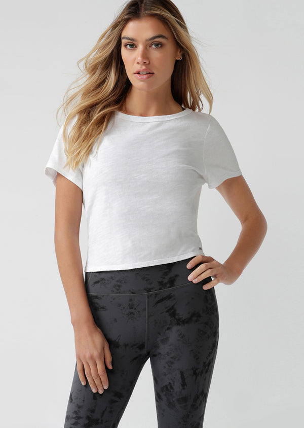T-shirt de sport Open Back Cropped