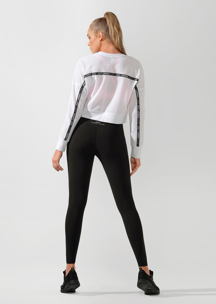 Top manches longues Action Mesh Cropped Active