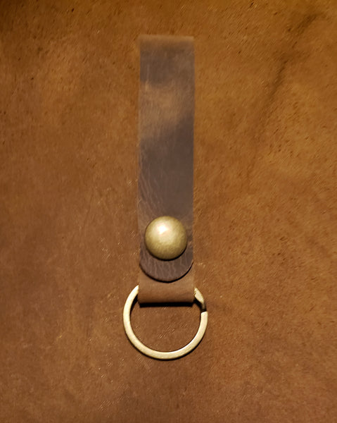 Leather Snap Key Ring