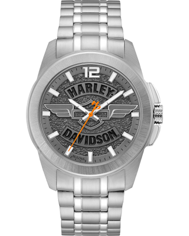 Winged Face Silver Watch