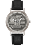 #1 Skull Leather Band Watch