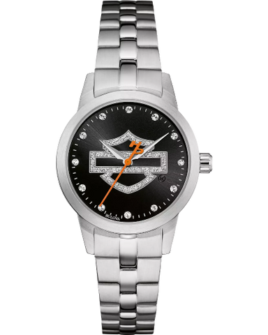 Bling Bar & Shield Harley Watch